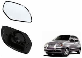 Autofetch Car Rear View Side Mirror Glass RIGHT for Hyundai Santro Xing Black
