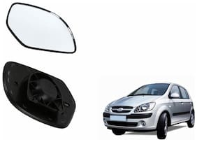 Autofetch Car Rear View Side Mirror Glass LEFT for Hyundai Getz Prime Type 2 Black