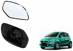 Autofetch Car Rear View Side Mirror Glass LEFT for Maruti Ritz Black