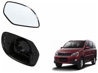Autofetch Car Rear View Side Mirror Glass LEFT for Mahindra Xylo Type 1 (2007-2009) Black