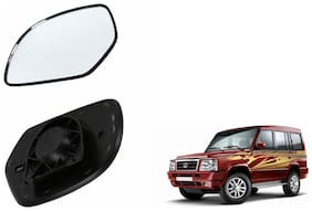 Autofetch Car Rear View Side Mirror Glass RIGHT for Tata Sumo Victa Black