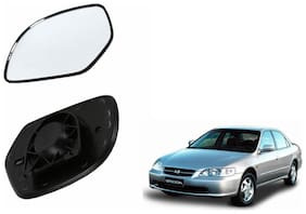 Autofetch Car Rear View Side Mirror Glass RIGHT for Honda Accord 2.3 Type 1 (2000-2007) Black