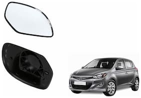 Autofetch Car Rear View Side Mirror Glass RIGHT for Hyundai i20 Type 2 (2013-2014) Black