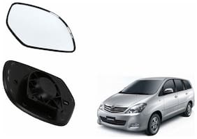 Autofetch Car Rear View Side Mirror Glass LEFT for Toyota Innova Type 1 (2005-2009) Black