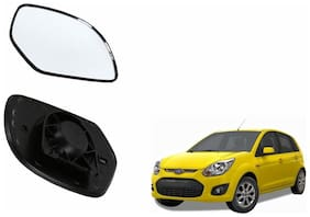 Autofetch Car Rear View Side Mirror Glass RIGHT for Ford Figo Type 1 (2010-2014) Black