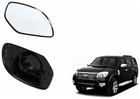 Autofetch Car Rear View Side Mirror Glass LEFT for Ford Endeavour Type 2 (2007-2015) Black