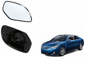 Autofetch Car Rear View Side Mirror Glass LEFT for Toyota Camry Type 2 (2007-2011) Black