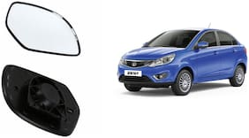 Autofetch Car Rear View Side Mirror Glass RIGHT for Tata Zest Black