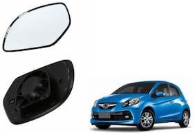 Autofetch Car Rear View Side Mirror Glass RIGHT for Honda Brio Black