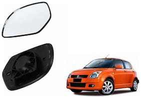 Autofetch Car Rear View Side Mirror Glass RIGHT for Maruti Swift 2018 Black