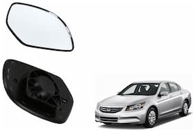Autofetch Car Rear View Side Mirror Glass LEFT for Honda Accord 2.4 Type 3 (2009-2011) Black