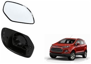 Autofetch Car Rear View Side Mirror Glass LEFT for Ford EcoSport Black