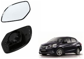 Autofetch Car Rear View Side Mirror Glass RIGHT for Honda Amaze Old Black