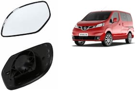 Autofetch Car Rear View Side Mirror Glass RIGHT for Nissan Evalia Black