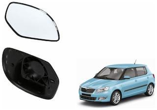 Autofetch Car Rear View Side Mirror Glass LEFT for Skoda Fabia Black