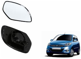 Autofetch Car Rear View Side Mirror Glass LEFT for Hyundai i10 Grand Black