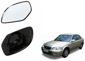 Autofetch Car Rear View Side Mirror Glass RIGHT for Maruti Swift (2007-2009) Black