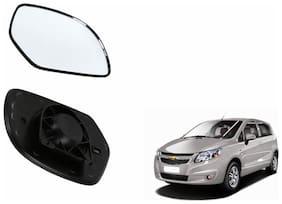 Autofetch Car Rear View Side Mirror Glass LEFT for Chevrolet Sail UVA Black