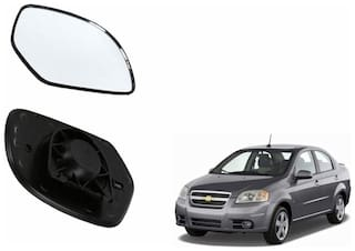 Autofetch Car Rear View Side Mirror Glass LEFT for Chevrolet Aveo Black