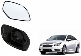 Autofetch Car Rear View Side Mirror Glass RIGHT for Chevrolet Cruze Type 1 (2009-2014) Black