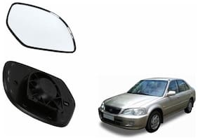 Autofetch Car Rear View Side Mirror Glass LEFT for Honda City 1.3/1.5 Type 1 (1998-2001) Black