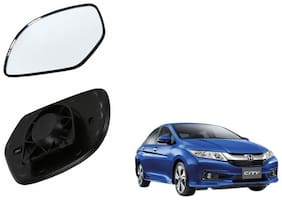 Autofetch Car Rear View Side Mirror Glass RIGHT for Honda City I V - TEC Black