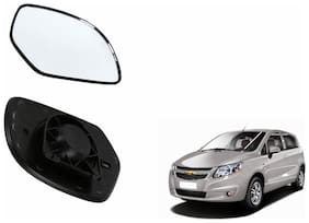 Autofetch Car Rear View Side Mirror Glass RIGHT for Chevrolet Sail UVA Black