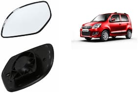 Autofetch Car Rear View Side Mirror Glass LEFT for Maruti Wagon R Type 3 Black