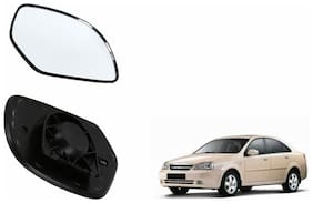 Autofetch Car Rear View Side Mirror Glass LEFT for Chevrolet Optra Black