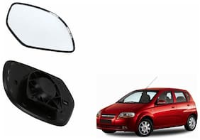 Autofetch Car Rear View Side Mirror Glass RIGHT for Chevrolet Aveo UVA Black