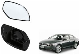 Autofetch Car Rear View Side Mirror Glass LEFT for Volkswagen Jetta Type 1 Black