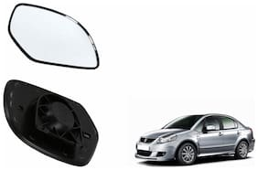 Autofetch Car Rear View Side Mirror Glass LEFT for Maruti SX4 Black