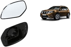 Autofetch Car Rear View Side Mirror Glass LEFT for Nissan Terrano Black