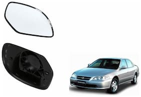 Autofetch Car Rear View Side Mirror Glass LEFT for Honda Accord 2.3 Type 1 (2000-2007) Black