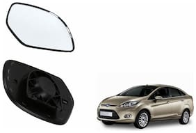Autofetch Car Rear View Side Mirror Glass RIGHT for Ford Fiesta Black