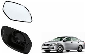 Autofetch Car Rear View Side Mirror Glass LEFT for Toyota Corolla Type 1 (2003-2008) Black