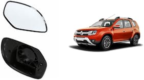 Autofetch Car Rear View Side Mirror Glass RIGHT for Renault Duster Black