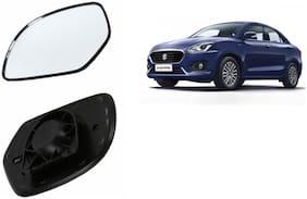 Autofetch Car Rear View Side Mirror Glass RIGHT for Maruti Swift Dzire 2018 Black