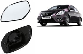 Autofetch Car Rear View Side Mirror Glass RIGHT for Nissan Sunny Black