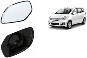 Autofetch Car Rear View Side Mirror Glass RIGHT for Maruti Ertiga (VDI) Black