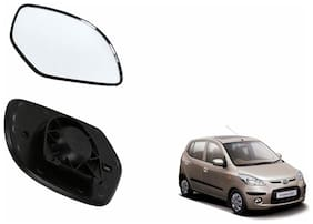 Autofetch Car Rear View Side Mirror Glass LEFT for Hyundai i10 VX Black