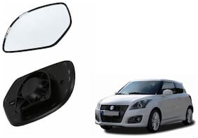 Autofetch Car Rear View Side Mirror Glass RIGHT for Maruti Swift (2012-2015 Black