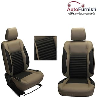 Autofurnish (PL-207 Cave) Ford EcoSport Custom-fit Leatherette 3D Car Seat Covers