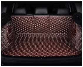 Autofurnish 7D Luxury Custom Fitted Car Trunk Mat for Ford Endeavour 2017 - Coffee