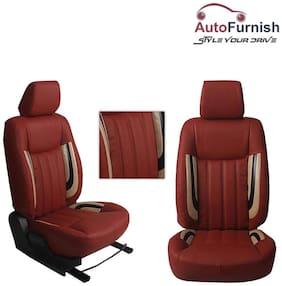 Autofurnish (HT-506 Crystal-Cherry) Honda WRV 3D Custom PU Leather Car Seat Covers