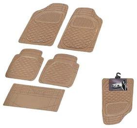 Autofurnish (Imported) Car Foot Mats (Beige) Set of 5 For Tata Zest