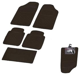 Autofurnish (Imported) Car Foot Mats (Smoke Black) Set of 5 For Maruti Suzuki Alto 800