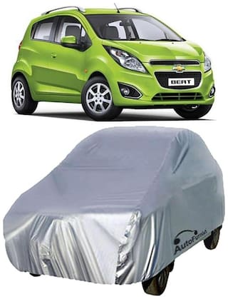Autofurnish Car Body Cover For Chevrolet Beat - Silver
