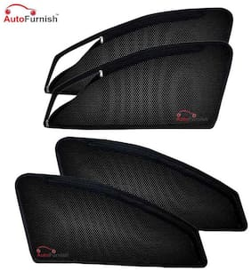 Autofurnish Magnetic Zipper Sun Shades Car Curtains For Skoda Rapid (4 pc.)