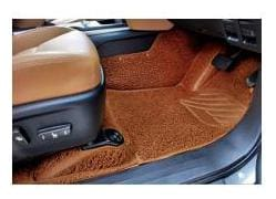 Autofurnish 7D Curly Custom Fitted Car Mats For Skoda Rapid - Tan